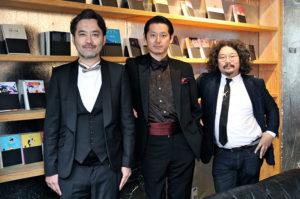 左から草彅洋平氏、手塚マキ氏、柳下恭平氏