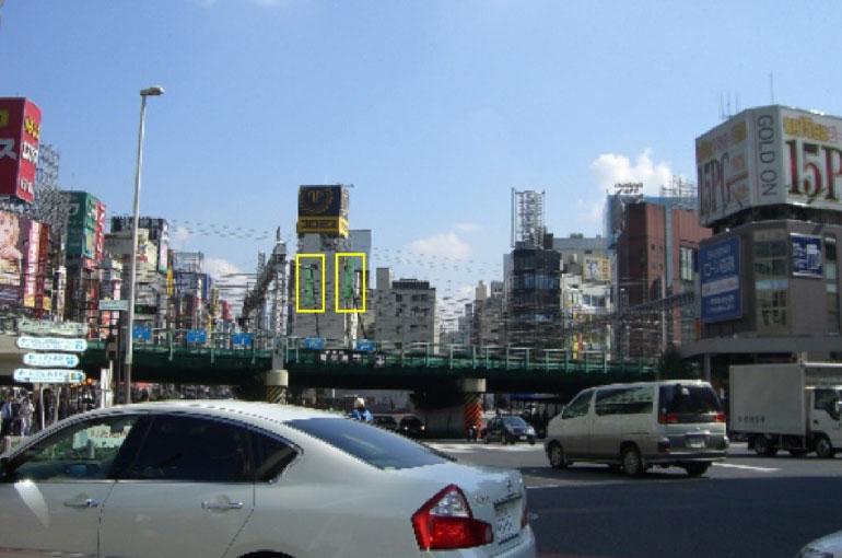 建設工事開始前、景観計画を開始したときの新宿西口側からの写真。