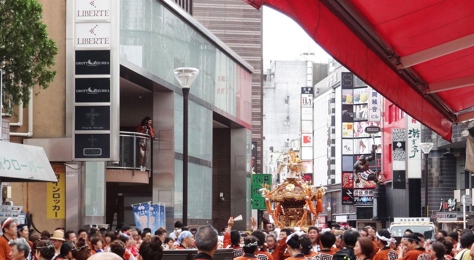 熊野神社の例大祭の様子