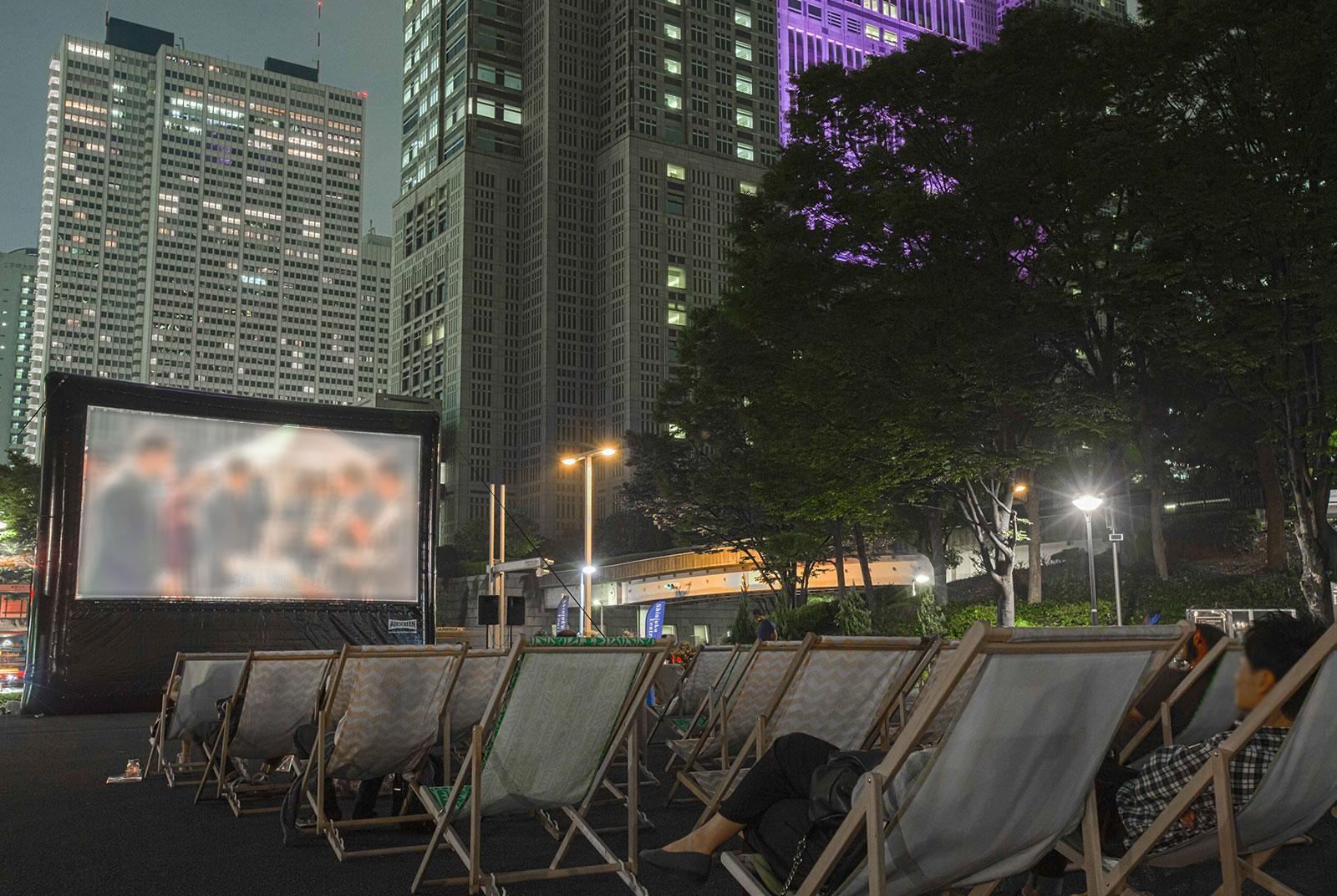 観覧席の様子(「新宿パークシネマフェスティバル」)