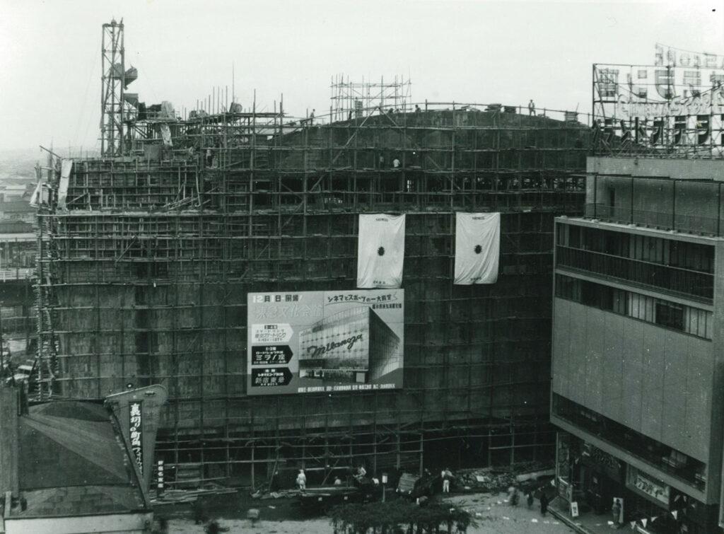 建設中の新宿東急文化会館